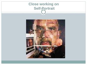 Chuck Close Pattern Grid Portrait