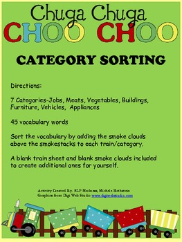 Chuga Chuga Choo Choo Train Category Sorting