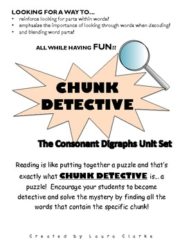Chunk Detective- Consonant Digraph Complete Set