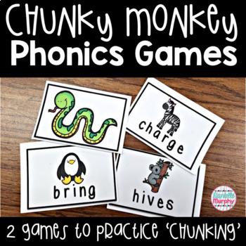 Chunky Monkey Reading Strategy Phonics Games--Chunk It Up!
