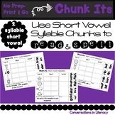 Chunk Its 2 Syllable Short Vowel Making Words With Chunks