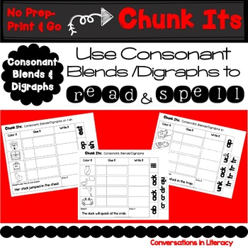 Blends & Digraphs Word Work Chunk Its