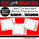 Blends and Digraphs Activities Word Work Chunk Its