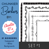 Chunkier Borders: Set 1 by Auntie D's - LABOR DAY SALE!