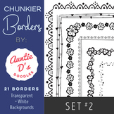 Chunkier Borders: Set 2 by Auntie D's - LABOR DAY SALE!