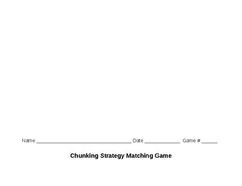 Chunking Reading Strategy Matching Game Bundle