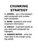 Chunking Strategy Bulletin Board