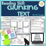Close Reading, Chunking Text, Post It Notes, Printables