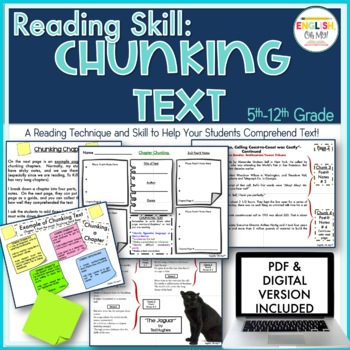 Close Reading: Chunking Text, Post It Notes, Printables