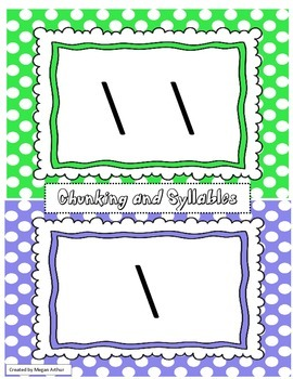Chunking and Syllable Template