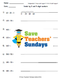 Chunking on a number line lesson plans, worksheets and more