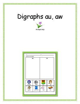 Digraphs -au and -aw -- 5 Different Activities