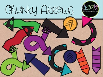 Chunky Arrows - Digital Clipart
