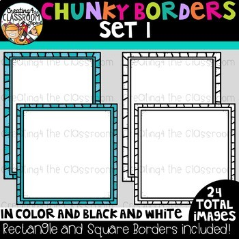 Chunky Borders Clipart Set 1 {Borders Clipart}