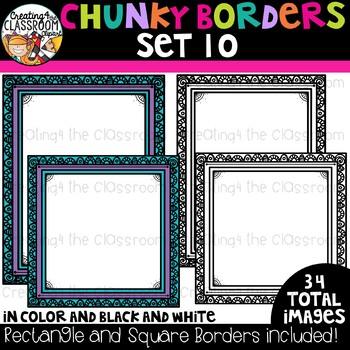 Chunky Borders Clipart Set 10 {Borders Clipart}