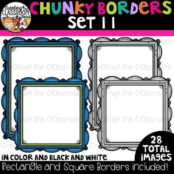 Chunky Borders Clipart Set 11 {Borders Clipart}