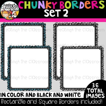 Chunky Borders Clipart Set 2 {Borders Clipart}