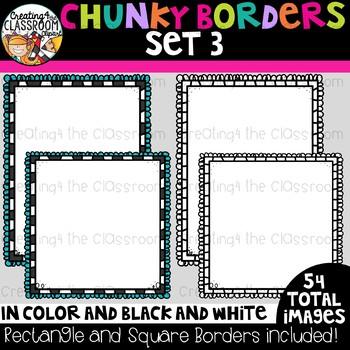 Chunky Borders Clipart Set 3 {Borders Clipart}