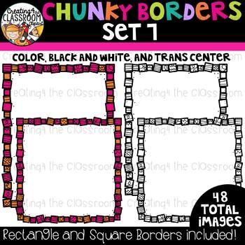 Chunky Borders Clipart Set 7 {Borders Clipart}
