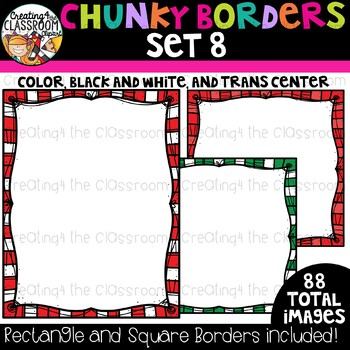 Chunky Borders Clipart Set 8 {Borders Clipart}