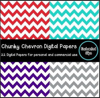 Chunky Chevron Digital Papers- 22 Papers for Personal and Commercial Use
