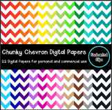 Chunky Chevron Digital Papers- 22 Papers for Personal and