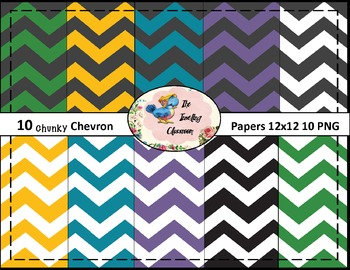Chunky Chevrons #2  Papers (Digital Papers for Commercial Use)