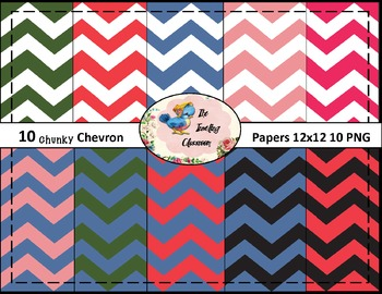 Chunky Chevrons #3  Papers (Digital Papers for Commercial Use)