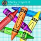 Rainbow Chunky Crayon Clip Art {Back to School Supplies for Classroom Decor} 2