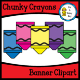 Chunky Crayons Banner Clipart