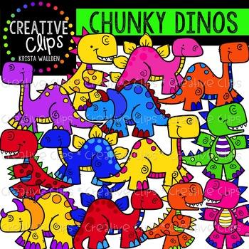 Chunky Dinosaurs {Creative Clips Clipart}
