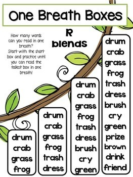 Chunky Monkey Blends- Teaching Resources and Literacy Center Activities
