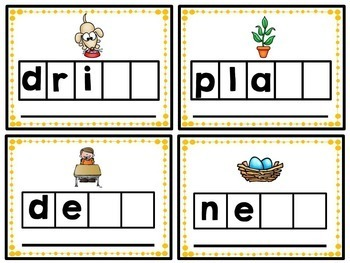 Blends- Phonics Unit, Word Work and Literacy Center Activities