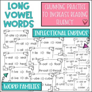 Chunky Monkey Chunking Practice Long Vowel Edition