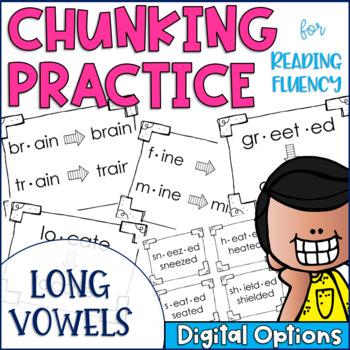 Chunky Monkey Chunking Practice Long Vowel Edition