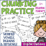 Chunky Monkey Chunking Practice- Modified Vowels, Digraphs & Dipthongs Edition