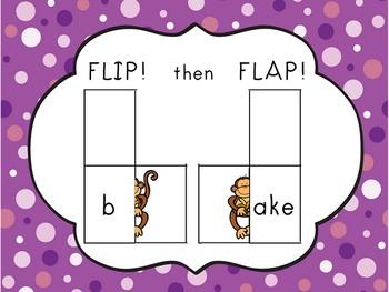 Chunky Monkey Flip Flaps - Long A Word Families