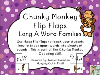 Chunky Monkey Flip Flaps - Long A Word Families