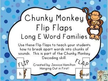 Chunky Monkey Flip Flaps - Long E Word Families