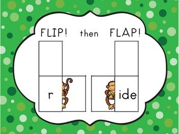 Chunky Monkey Flip Flaps - Long I, Long U Word Families