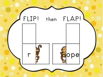 Chunky Monkey Flip Flaps - Long O Word Families