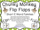 Chunky Monkey Flip Flaps - Short E Word Families