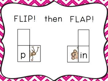 Chunky Monkey Flip Flaps - Short I Word Families