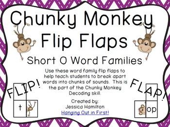 Chunky Monkey Flip Flaps - Short O Word Families