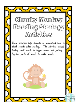 Chunky Monkey Reading Strategy Activities