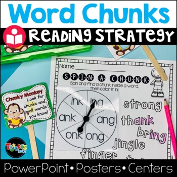 Chunky Monkey Reading Strategy: Lesson Plan, Center, PowerPoint: CC Aligned!