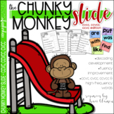 CVCC, CCVC and CCVCC Activities - Chunky Monkey Slide -Chu