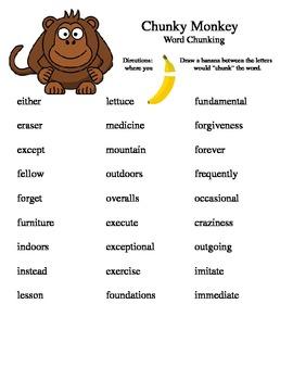 Chunky Monkey: chunking multisyllabic words