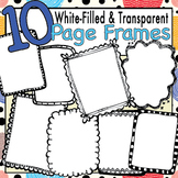 Chunky Doodle Frames for TpT Seller Listing Pages White Fi