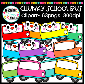 Chunky School Bus Clipart